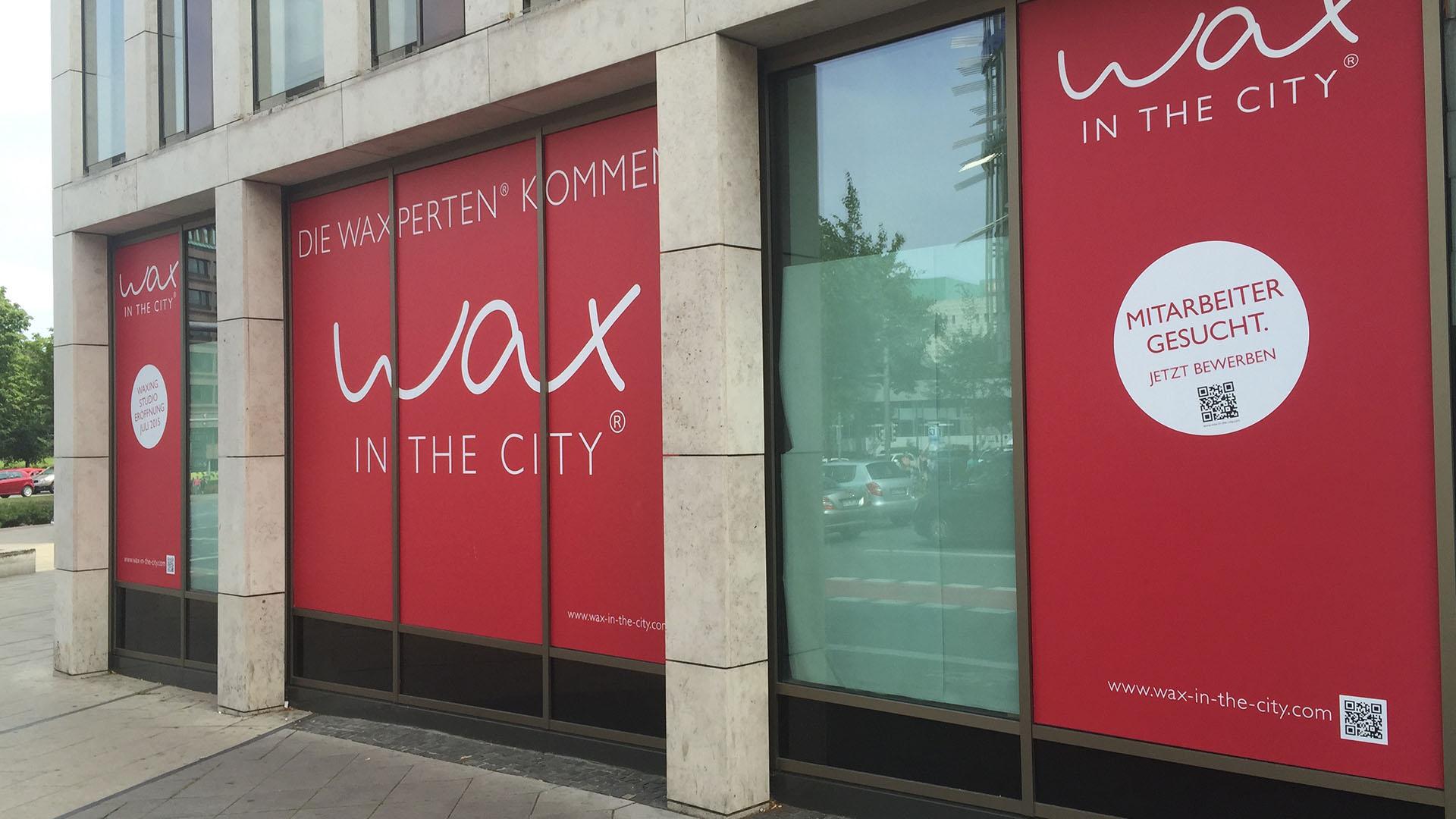Wax in the City Fassadenbeklebung